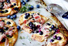 Blueberry, Honeyed Goat Cheese and Prosciutto Pizza - (Free Recipe below)