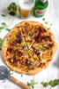 Bacon, Corn, and Caramelized Onion Pizza - (Free Recipe below)