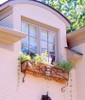 Custom Wrought Iron Window Planters Boxes, Balcony Covers, Rails and more