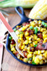 Sweet Corn with Maple Bourbon Brown Butter and Bacon - (Free Recipe below)