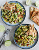Chopped Chicken Taco Salads with Cheese Quesadilla Strips - (Free Recipe below)