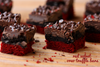 RED VELVET OREO TRUFFLE BROWNIE BARS - One Dozen w/ recipe below