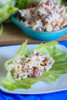 Turkey Salad w/ Grapes Lettuce Wraps - (Free Recipe below)