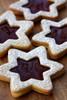LINZER COOKIE STARS - One Dozen w/ recipe below