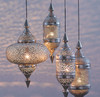 """Large Moroccan Hanging Lantern 28"""" - other sizes & set available"""