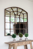"""ARCHED IRON MIRROR 39""""t"""