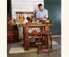 Barrel Stave Kitchen Island Set