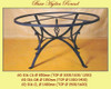 Estella Lava Table, custom designs available