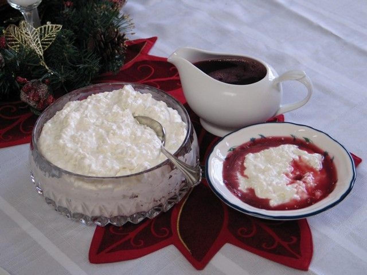 Norwegian Riskrem Rice Pudding - (Free Recipe below)