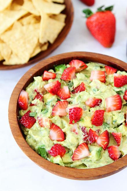 Strawberry Goat Cheese Guacamole - (Free Recipe below)