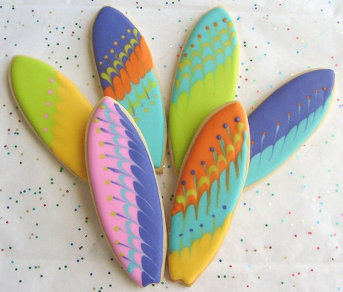 Surfboard Cookies - Many Designs Available - One Dozen