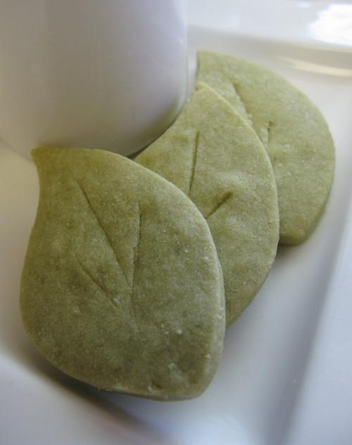 Green Tea Leaves- Shortbread Cookies - 18 Included