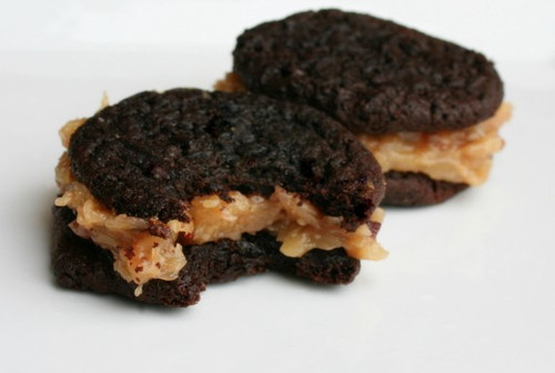 Gooey German Chocolate Cookie-Wiches - One Dozen