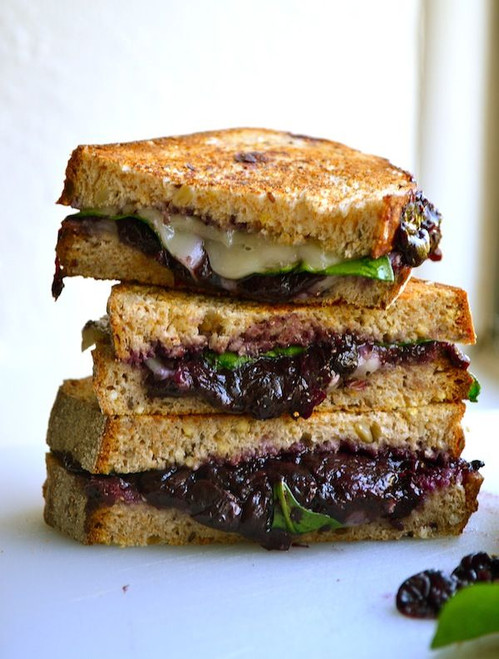 BLUEBERRY BALSAMIC GRILLED CHEESE - (Free Recipe below)
