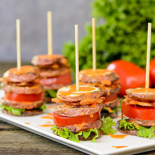 BLT Potato Salad Stacks - (Free Recipe Below)