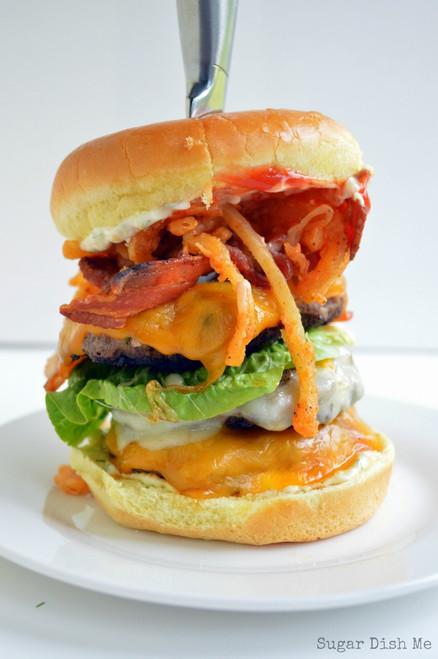 Tripple Decker Paunch Burger - (Free Recipe below)