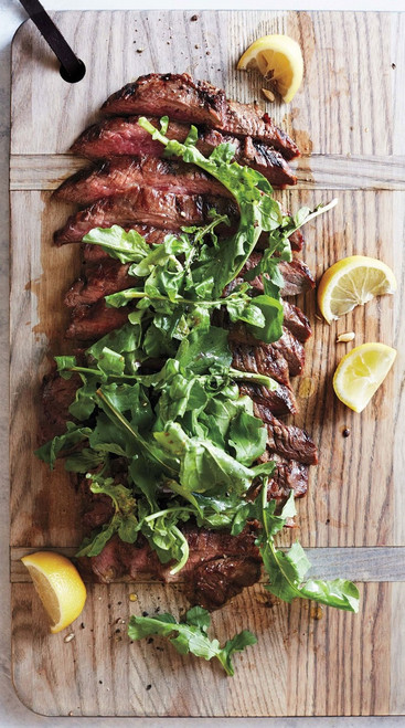 Soy Lemon Flank Steak w/ Arugula - (Free Recipe below)