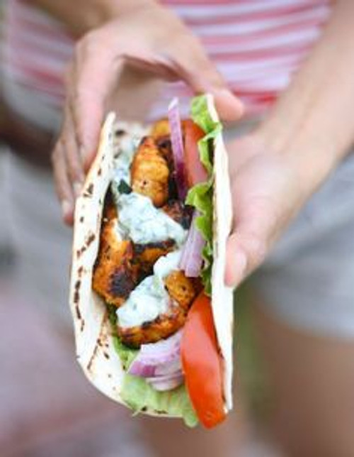 Tandori Chicken Tikka Wrap - (Free Recipe below)