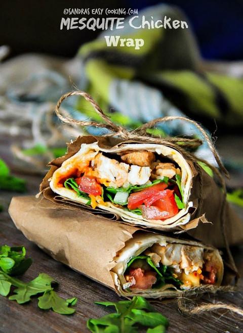 Mesquite Chicken Wrap - (Free Recipe below)