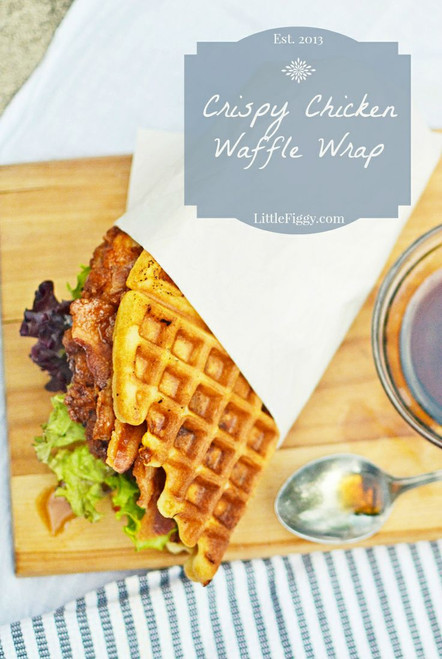 Crispy Chicken Waffle Wrap - (Free Recipe below)