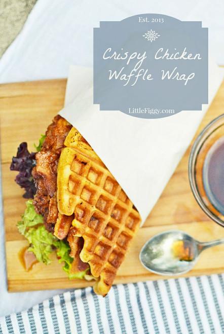 Crispy Chicken Waffle Wrap - (Free Recipe below)