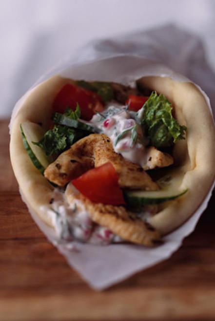 Marinated Chicken Gyro Wrap - (Free Recipe below)