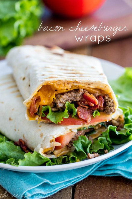 Bacon Cheeseburger Wraps - (Free Recipe below)