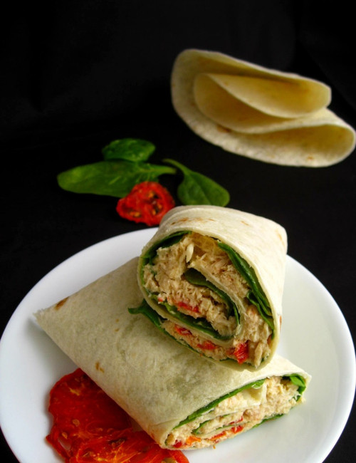 Spicy Tuna Avocado Melt Wrap - (Free Recipe below)