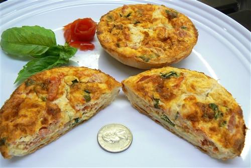 Mozzarella, Tomato and Basil Individual Quiche - 4 Included