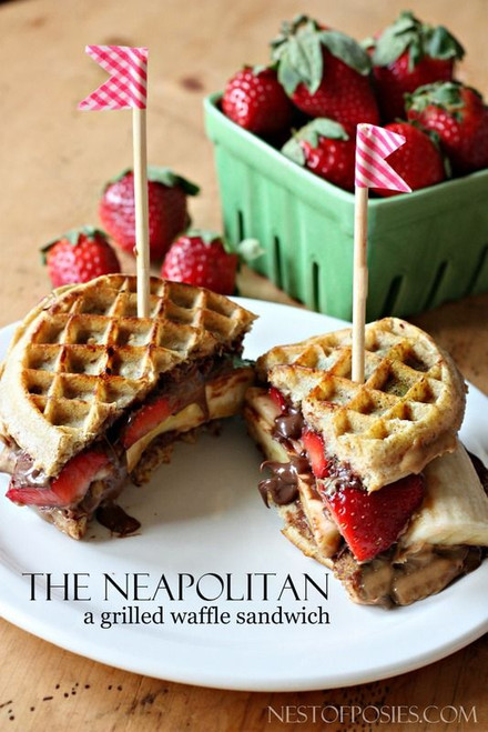 Grilled Neapolitan Waffle Sandwich - (Free Recipe below)