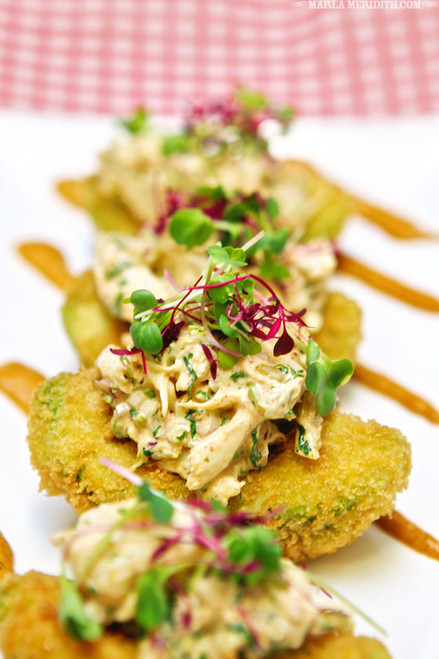 Crispy Avocado Wedges w/ Crab Salad - (Free Recipe below)