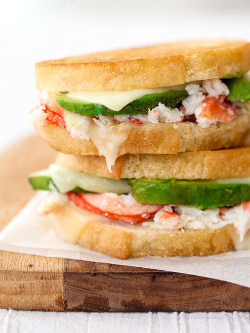 Crab and Avocado Grilled Cheese Sandwich - (Free Recipe below)
