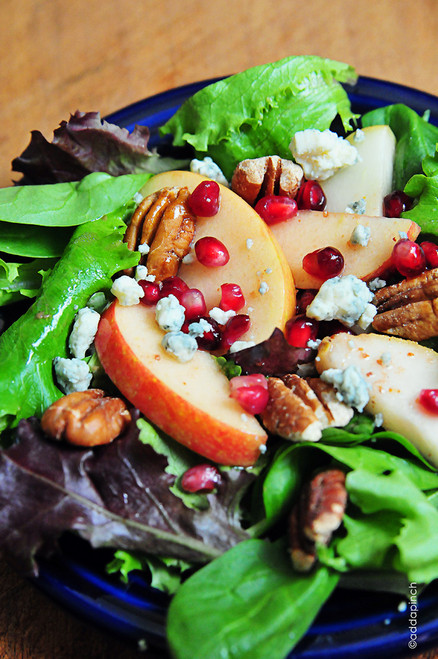 Apple Pear Salad with Pomegranate Vinaigrette - (Free Recipe below)