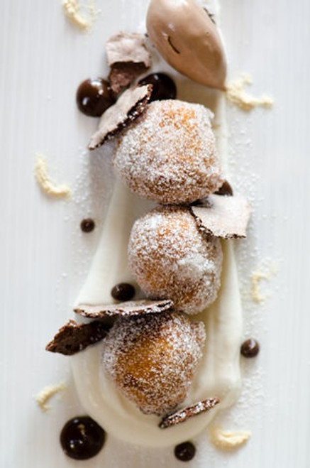 Beignets with Chocolate Sauce - (Free Recipe below)