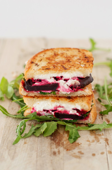 Beet, Arugula and Goat Cheese Grilled Cheese - (Free Recipe below)