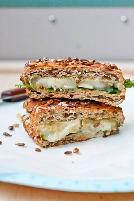 Cucumber Goat Cheese Grilled Cheese - (Free Recipe below)