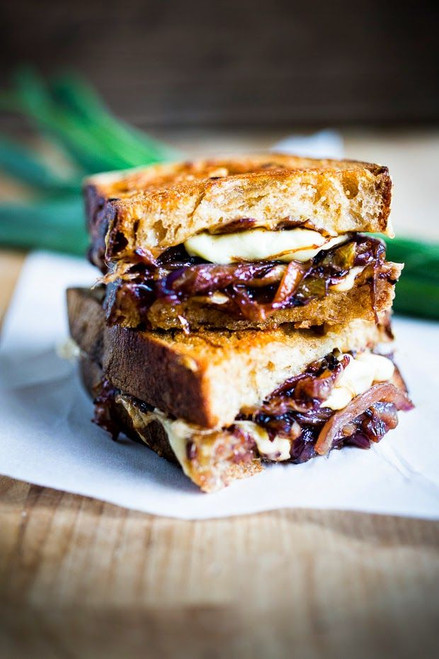 French Onion Grilled Cheese - (Free Recipe below)