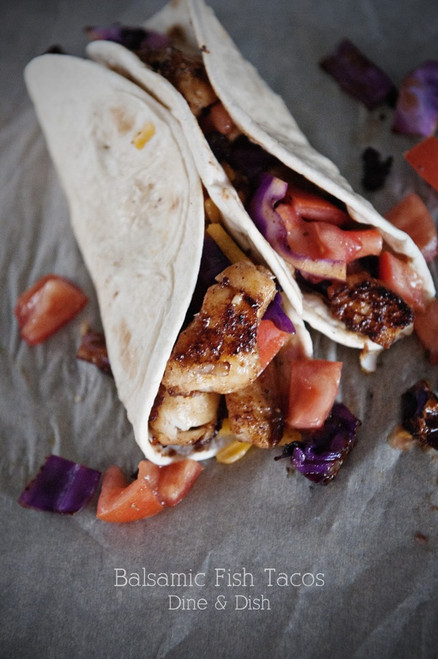 Balsamic Fish Tacos - (Free Recipe below)