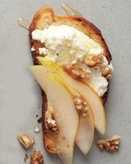 Pear, Walnut, and Ricotta Crostini - (Free Recipe below)