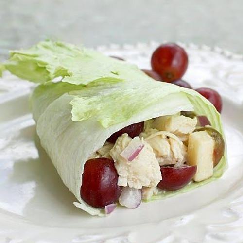 Chicken and Peanut Butter Lettuce Wraps - (Free Recipe below)