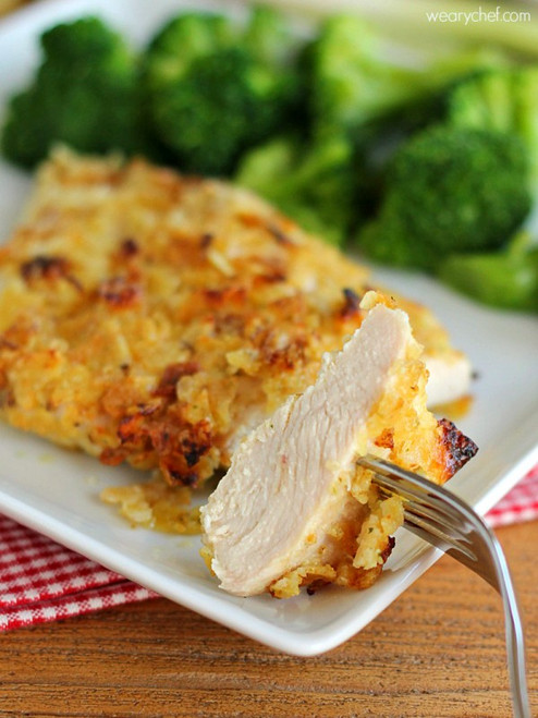 Sour Cream and Onion Potato Chip Chicken - (Free Recipe below)
