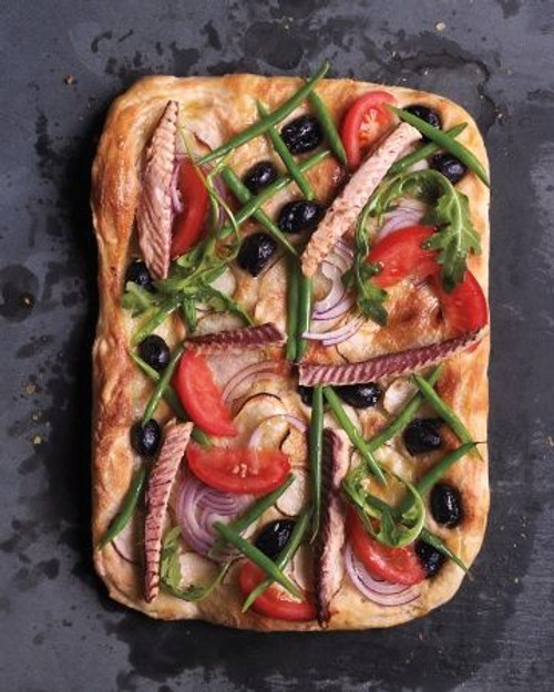 Nicoise Salad Pizza - (Free Recipe below)