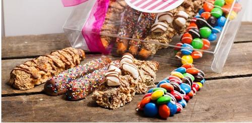 Chocolate Candy Pretzel Sampler - Includes Four