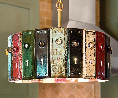 """Antique Key Plate Pendant Light Chandelier 16"""""""