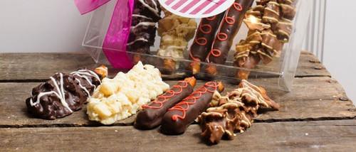 Savory Chocolate Candy Pretzel Sampler