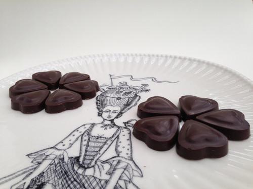 Chocolate Hearts w/ Creamy Ginger Filling - One Dozen