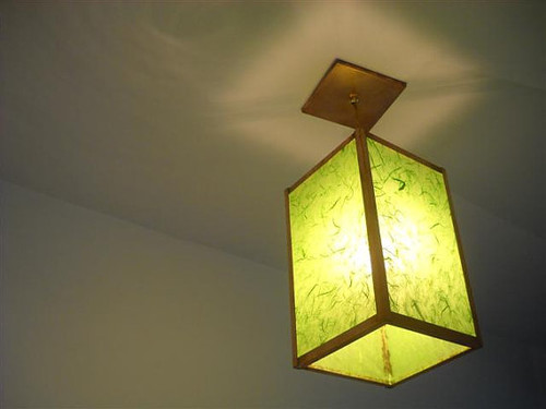 Pendant Lighting - Cube Copper Hanging Pendant Light - The Mod Box - Custom Made in an Array of Colors