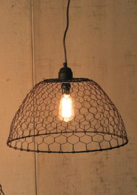 Chicken Wire Basket Pendant Hanging Lamp