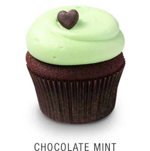 Chocolate Mint Cupcakes - One Dozen