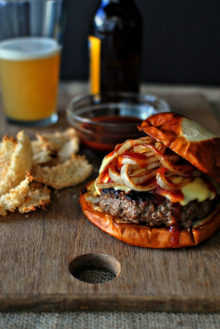 Steak Burgers with Jarlsberg and Onions - (Free Recipe below)